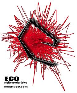 Logo d'Eco, résidences d'artistes