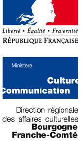 Logo de la DRAC Franche-Comté Bourgogne.